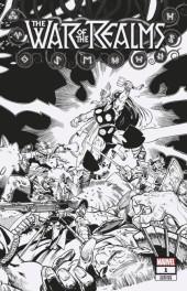 War of the Realms #1 1:500 Simonson Hidden Gem B&W Variant