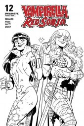 Vampirella / Red Sonja #12 40 Copy Romero B&W Incentive