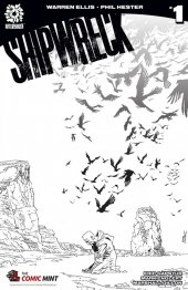 Shipwreck #1 The Comic Mint Variant Cover B&W