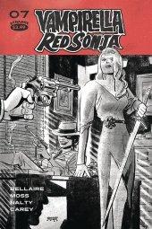 Vampirella / Red Sonja #7 1:40 Romero B&w Cover
