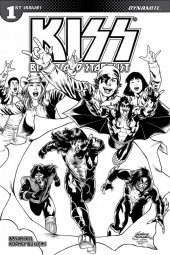 Kiss: Blood And Stardust #1 1:10 Buchemi B&w Cover
