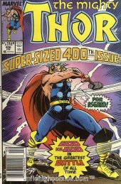 The Mighty Thor #400 Newsstand Edition