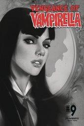 Vengeance of Vampirella #9 1:30 Oliver B&w Cover