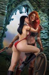 Vampirella / Red Sonja #11 Ron Leary Variant