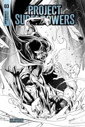 Project Superpowers #3 1:20 Segovia B&w Cover