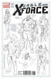 Cable and X-Force #1 Larroca Design Sketch Variant