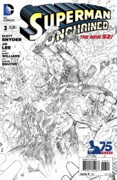Superman Unchained #3 B&W Variant Edition