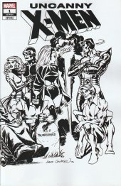 Uncanny X-Men #1 Dave Cockrum Hidden Gem Wraparound B&W Variant