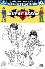 Super Sons #1 The Hall of Comics Exclusive Frank Quitely Sketch Variant