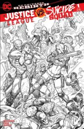Justice League vs. Suicide Squad #1 Chad Hardin Penciled Variant