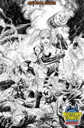 Suicide Squad #1 Tyler Kirkham Midtown Comics Black and White Variant