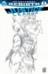 Justice League #1 Aspen Michael Turner Sketch