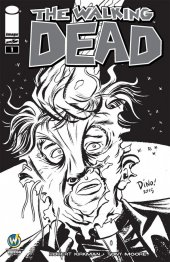 The Walking Dead #1 Wizard World Raleigh Comic Con VIP Exclusive Sketch Variant