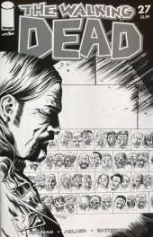 The Walking Dead #27 15th Anniversary Blind Bag Shalvey B&W Cover
