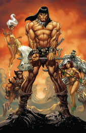 Conan the Barbarian #1 Unknown Comic Books Exclusive Campbell Virgin Variant