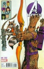 Avengers World #15 Aragones Rocket Raccoon & Groot Variant