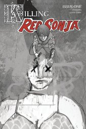 Killing Red Sonja #1 1:10 Ward Grayscale Cover
