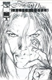Top Cow Classics in Black and White: The Darkness #1 Dynamic Forces Exclusive Sketch Cover