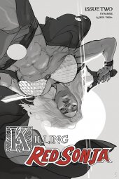 Killing Red Sonja #2 1:10 Ward Grayscale Cover