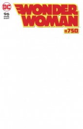 Wonder Woman #750 Blank Variant Cover