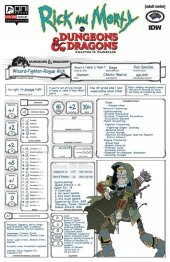 Rick and Morty vs. Dungeons & Dragons II: Painscape #3 Cover C Character Sheet