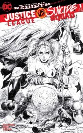 Justice League vs. Suicide Squad #1 Tyler Kirkham Unknown Comics Black & White Variant