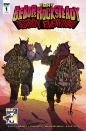 TMNT: Bebop & Rocksteady Destroy Everything #1 Massive Comic Con Cover