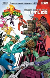 Mighty Morphin Power Rangers / Teenage Mutant Ninja Turtles #2 Original Cover