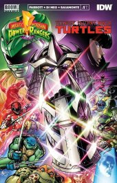Mighty Morphin Power Rangers / Teenage Mutant Ninja Turtles #1 Matt Frank Alpha Comics Retailer Exclusive Trade Dress Variant Cover