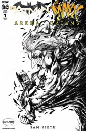 Batman / The Maxx: Arkham Dreams #1 Albert Moy Buzz Black & White Variant Cover