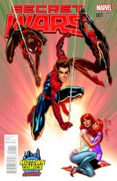 Secret Wars #1 Midtown Exclusive J Scott Campbell Color Variant