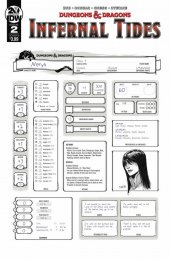 Dungeons & Dragons: Infernal Tides #2 Cover B Character Sheet