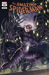 The Amazing Spider-Man #23 Woo Dae Shim Black Cat Venomized Variant
