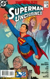 Superman Unchained #4 75th Anniversary Modern Age Cover