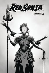 Red Sonja #15 1:30 Lee B&w Cover