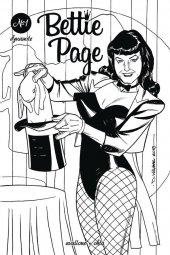 Bettie Page #1 1:20 Williams B&w Cover