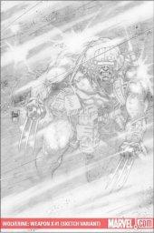 Wolverine: Weapon X #1 Adam Kubert Sketch Variant