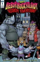 TMNT: Bebop & Rocksteady Destroy Everything #1 IDW Convention Exclusive Variant Cover