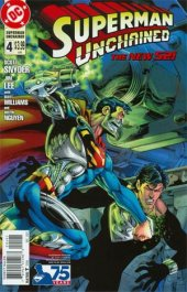 Superman Unchained #4 75th Anniversary Superman Reborn Cover