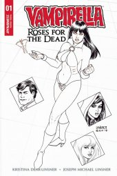 Vampirella: Roses for the Dead #1 Cover F 1:40 Linsner B&W