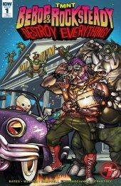 TMNT: Bebop & Rocksteady Destroy Everything #1 Heroes & Fantasies Exclusive Variant Cover