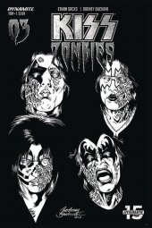 Kiss/Zombies #3 1:30 Buchemi B&w Cover
