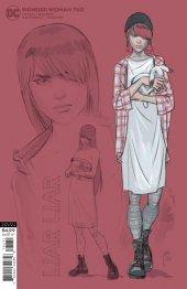 Wonder Woman #762 1:25 Card Stock Liar Liar Variant by Mikel Janin