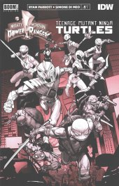 Mighty Morphin Power Rangers / Teenage Mutant Ninja Turtles #1 Unlock Variant
