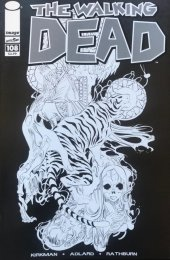 The Walking Dead #108 15th Anniversary Blind Bag Rios B&W Cover