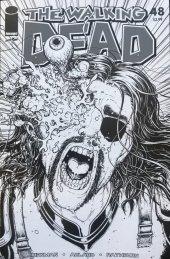 The Walking Dead #48 15th Anniversary Blind Bag Burnham B&W Cover