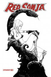 Red Sonja #13 1:20  Lee B&w Cover