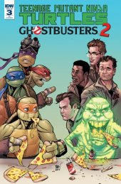 Teenage Mutant Ninja Turtles / Ghostbusters 2 #3 1:10 Johnson Variant