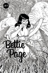 Bettie Page #3 1:10 Kano B&W Cover