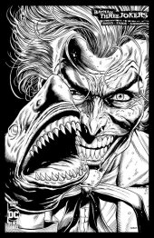 Batman: Three Jokers #1 2nd Printing 1:25 Joker Shark B&W Variant